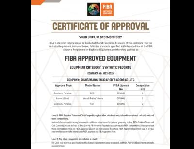 CHỨNG CHỈ FIBA 2021