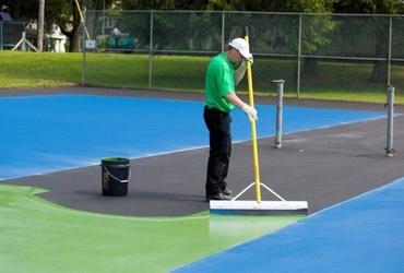 Thi công sân tennis tiêu chuẩn ITF